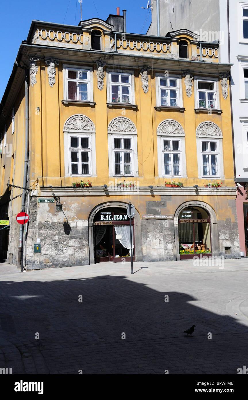 Exterior of Townhouse along Grodska St in Krakow - Stock Image