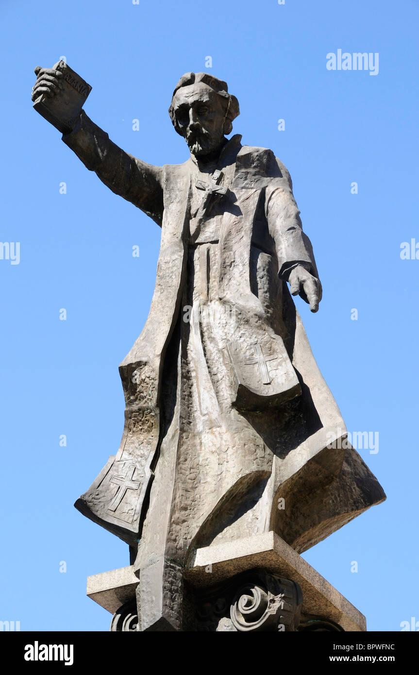 Statue of Piotr Skarga a Polish writer and reformer in Krakow - Stock Image