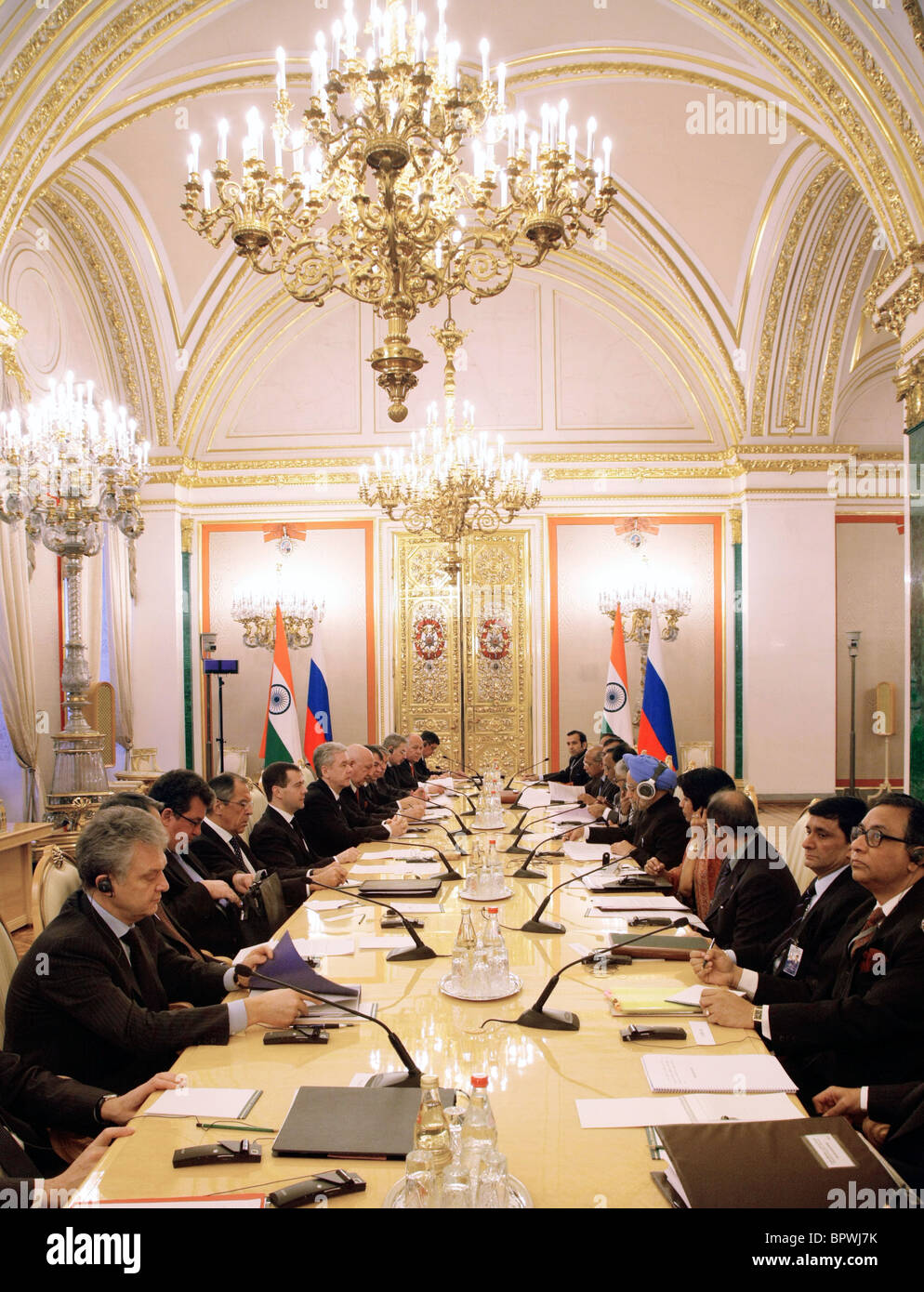 Indian PM on official visit to Russia - Stock Image
