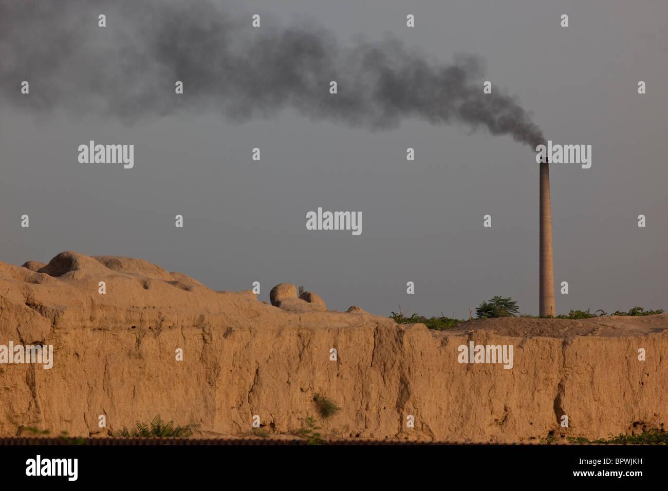 Smokestack in Turpan, Xinjiang, China. - Stock Image