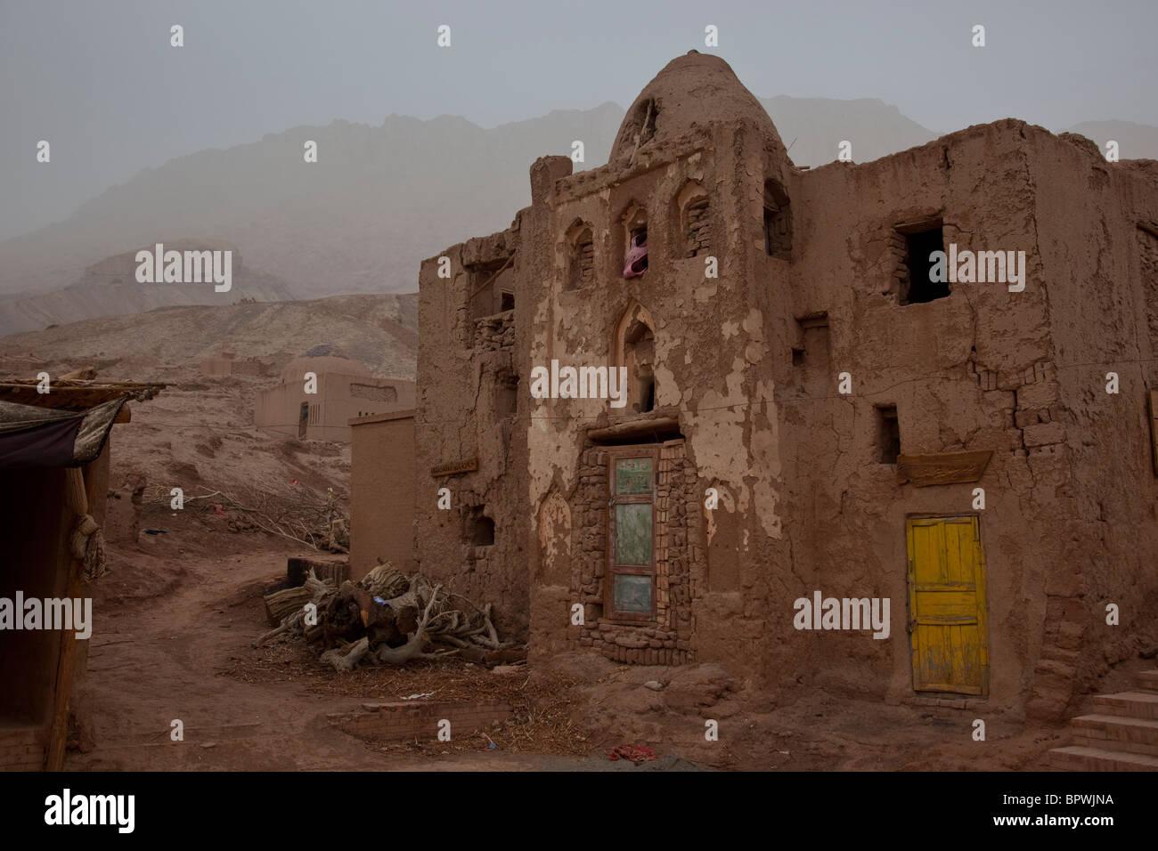 Mountain village of Toyuq, Xinjiang, China. - Stock Image
