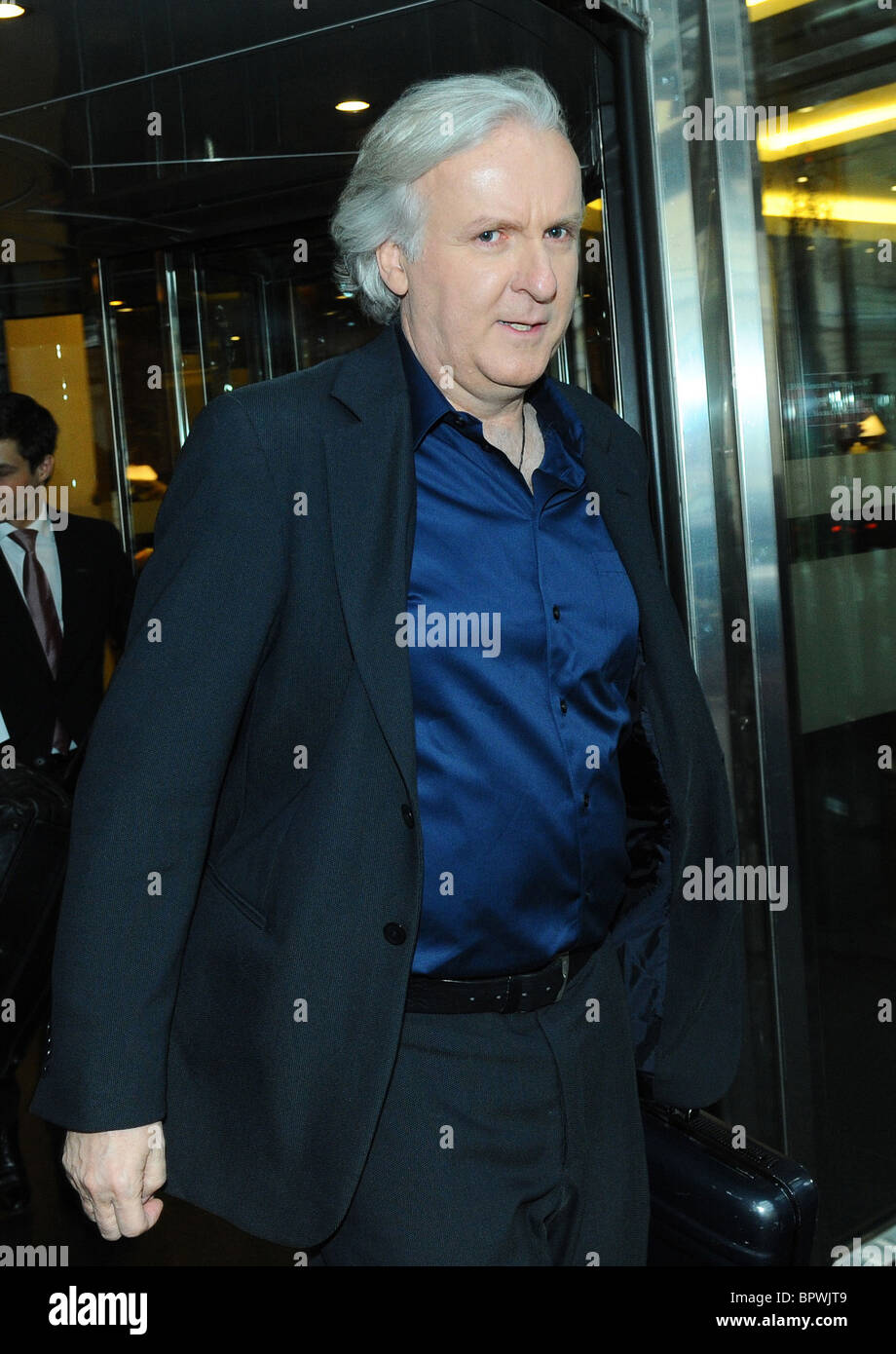 James Cameron brings new 3-D blockbuster Avatar to Moscow - Stock Image