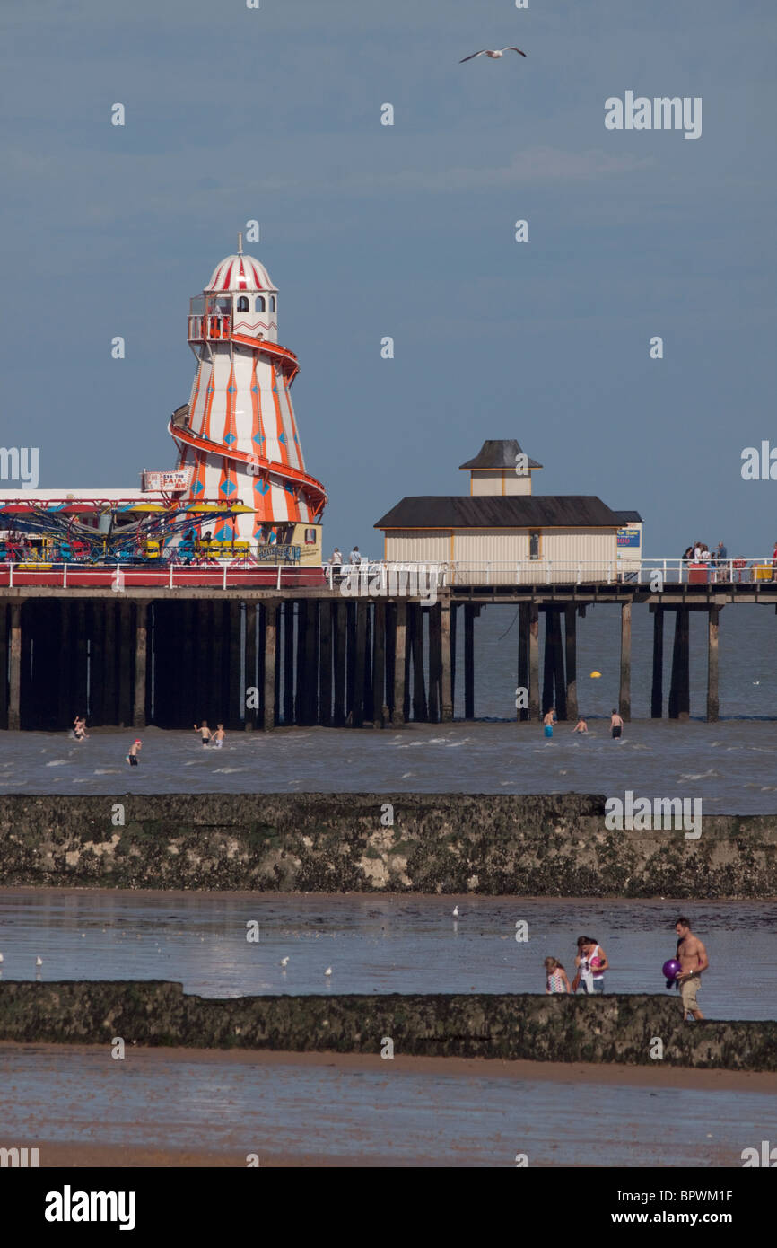Pier at Clacton-on-Sea, Essex, England - Stock Image