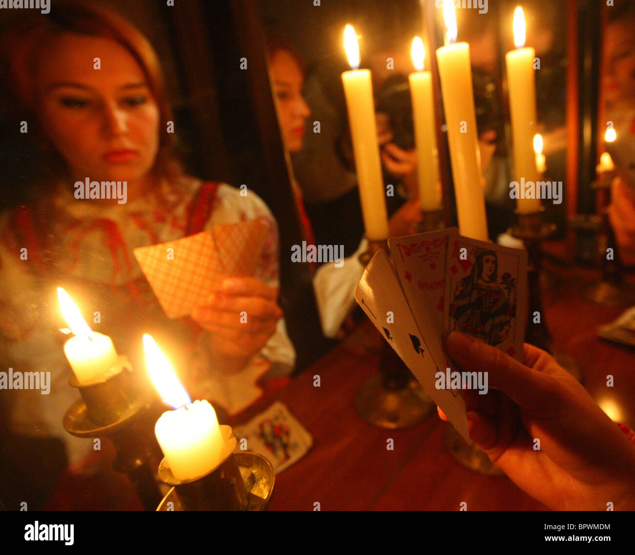 Christmas fortune-telling - Stock Image