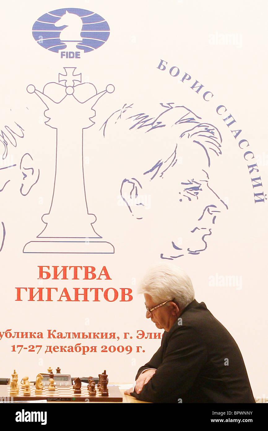 The Battle of the Giants: Victor Korchnoi vs Boris Spassky Stock Photo