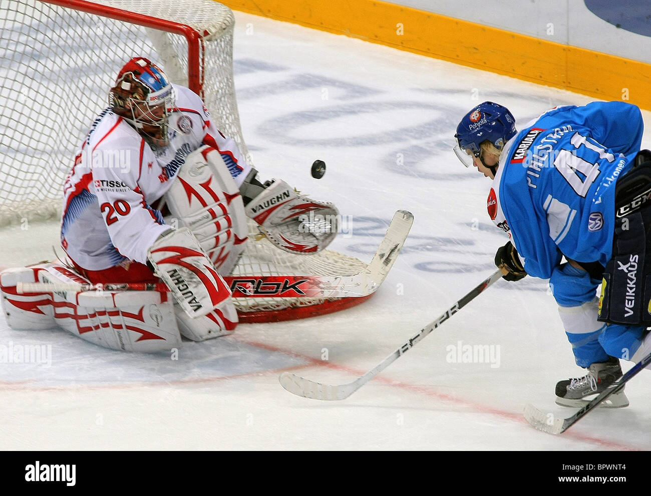 Channel One Cup: Russia 2 - 3 Finland - Stock Image
