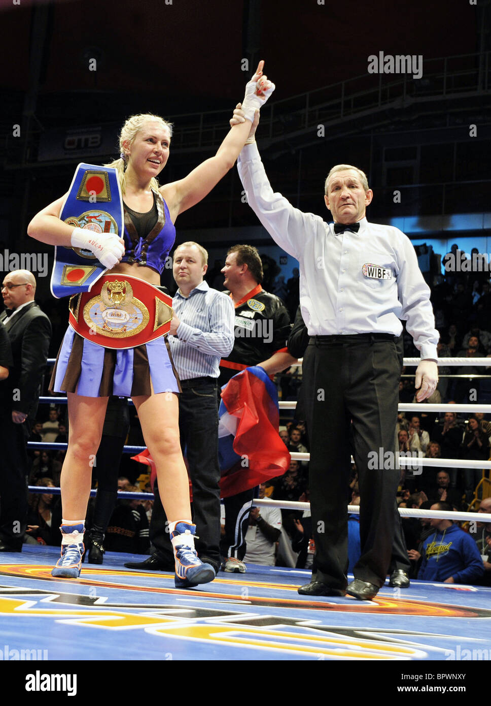 Natasha Ragozina wins WIBF heavyweight title - Stock Image
