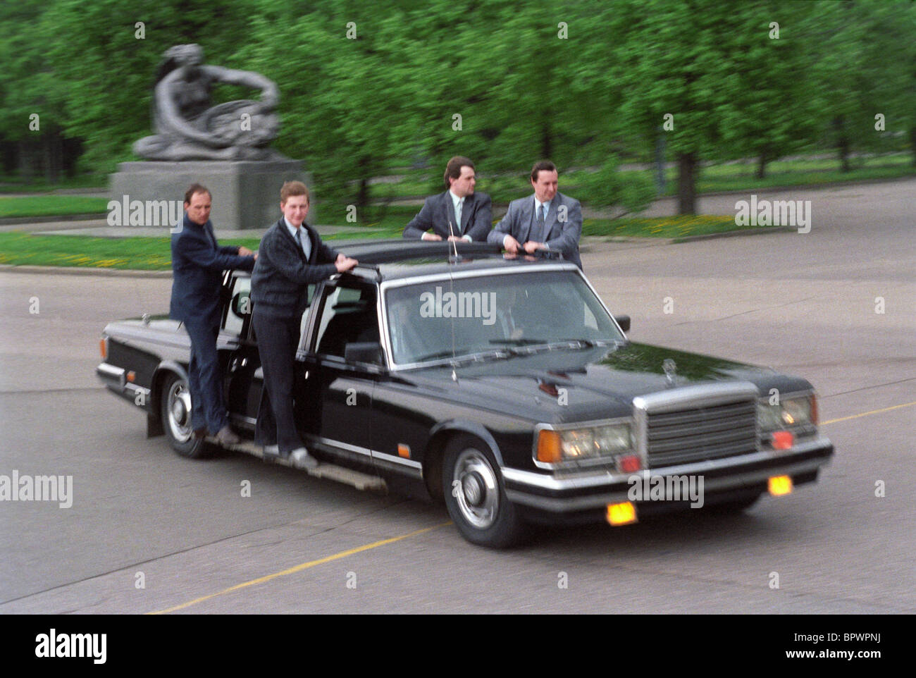 President security officers, 1991 - Stock Image