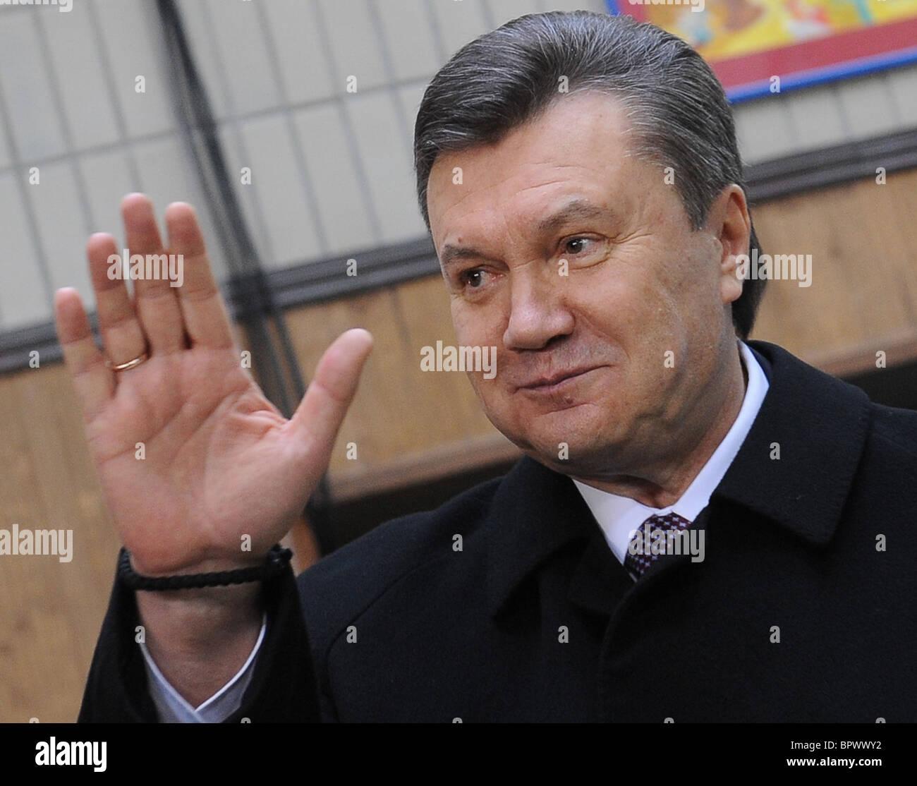 Ukraine votes in presidential election - Stock Image