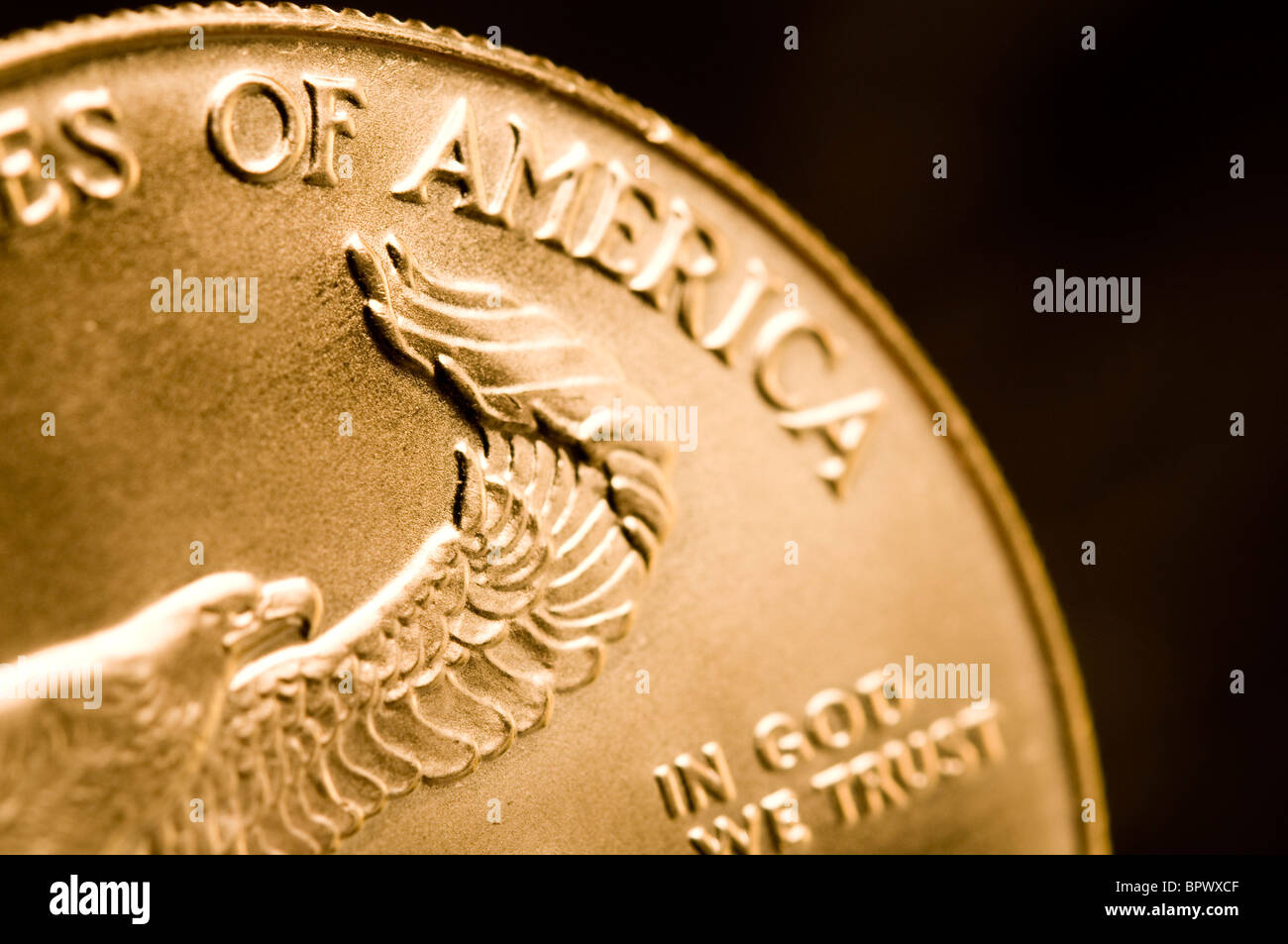 a gold bullion coin - Stock Image