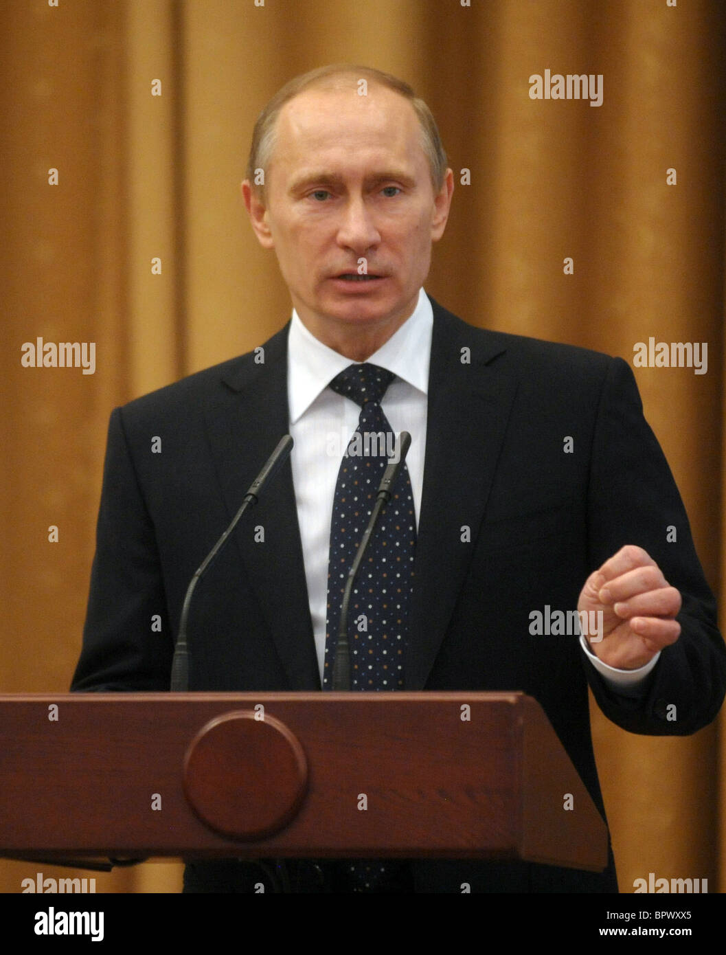 PM Putin visits Emergencies Ministry Office - Stock Image