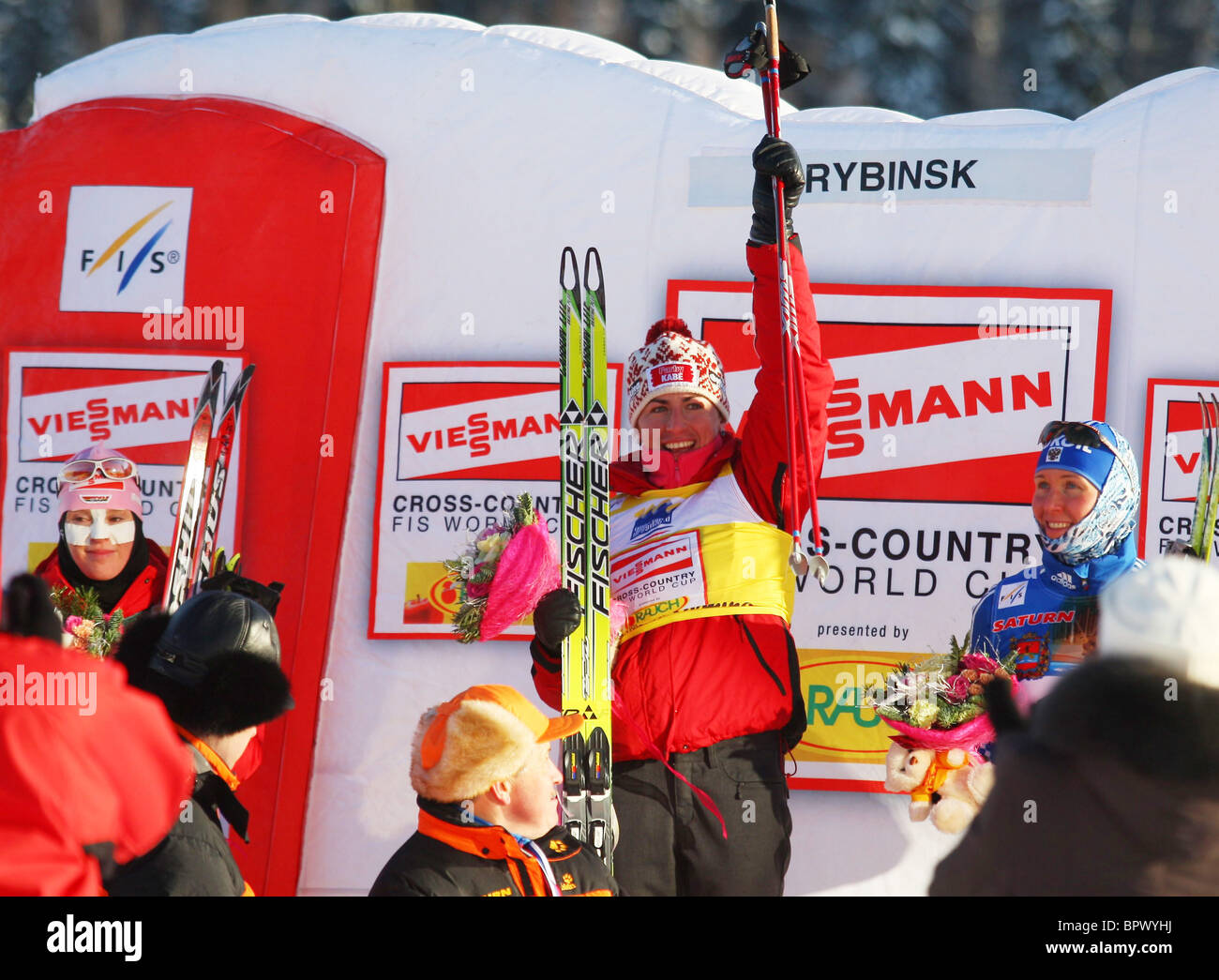 Russia hosts FIS World Cup event - Stock Image