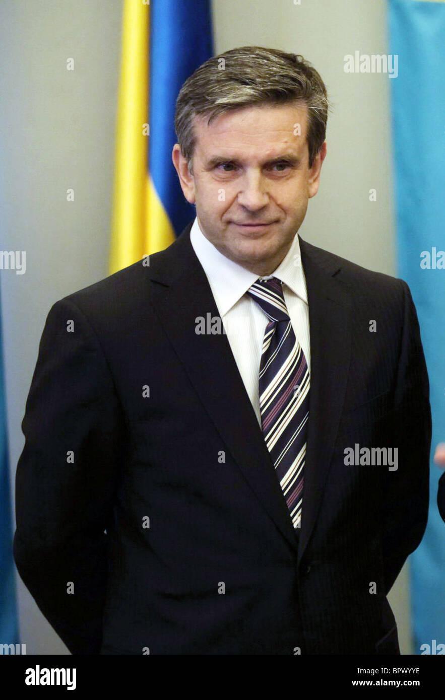 Russia's new ambassador Zurabov presents credentials to Ukraine foreign minister - Stock Image