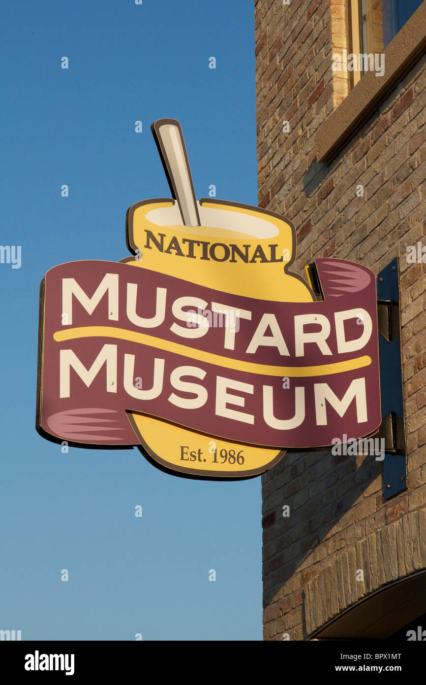 National Mustard Museum. Middleton, Wisconsin. - Stock Image