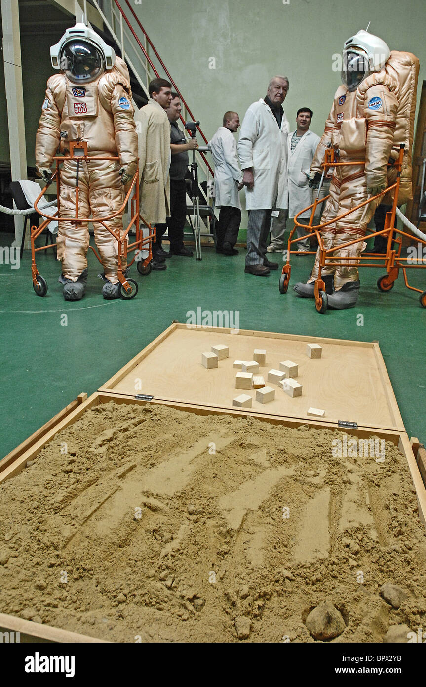 New spacesuits under test for MARS 500 Simulation - Stock Image