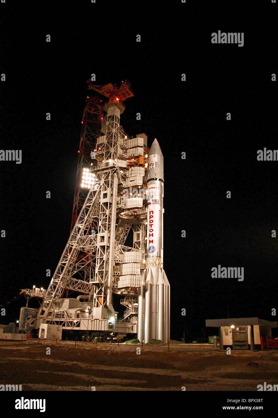 ILS launches Intelsat 16 via Proton M - Stock Image