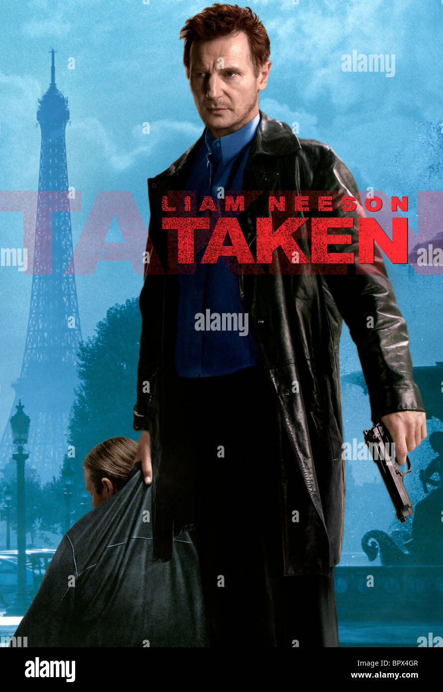 Liam Neeson Poster Taken 2008 Stock Photo Alamy