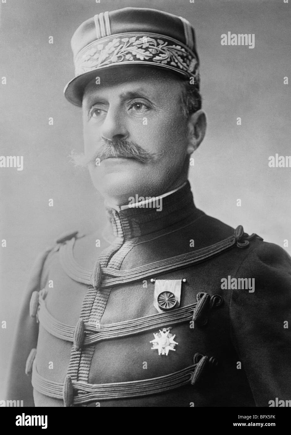 Portrait c1918 of French WW1 General Ferdinand Foch (1851 - 1929) - Marshal of France and Allied Supreme Commander - Stock Image