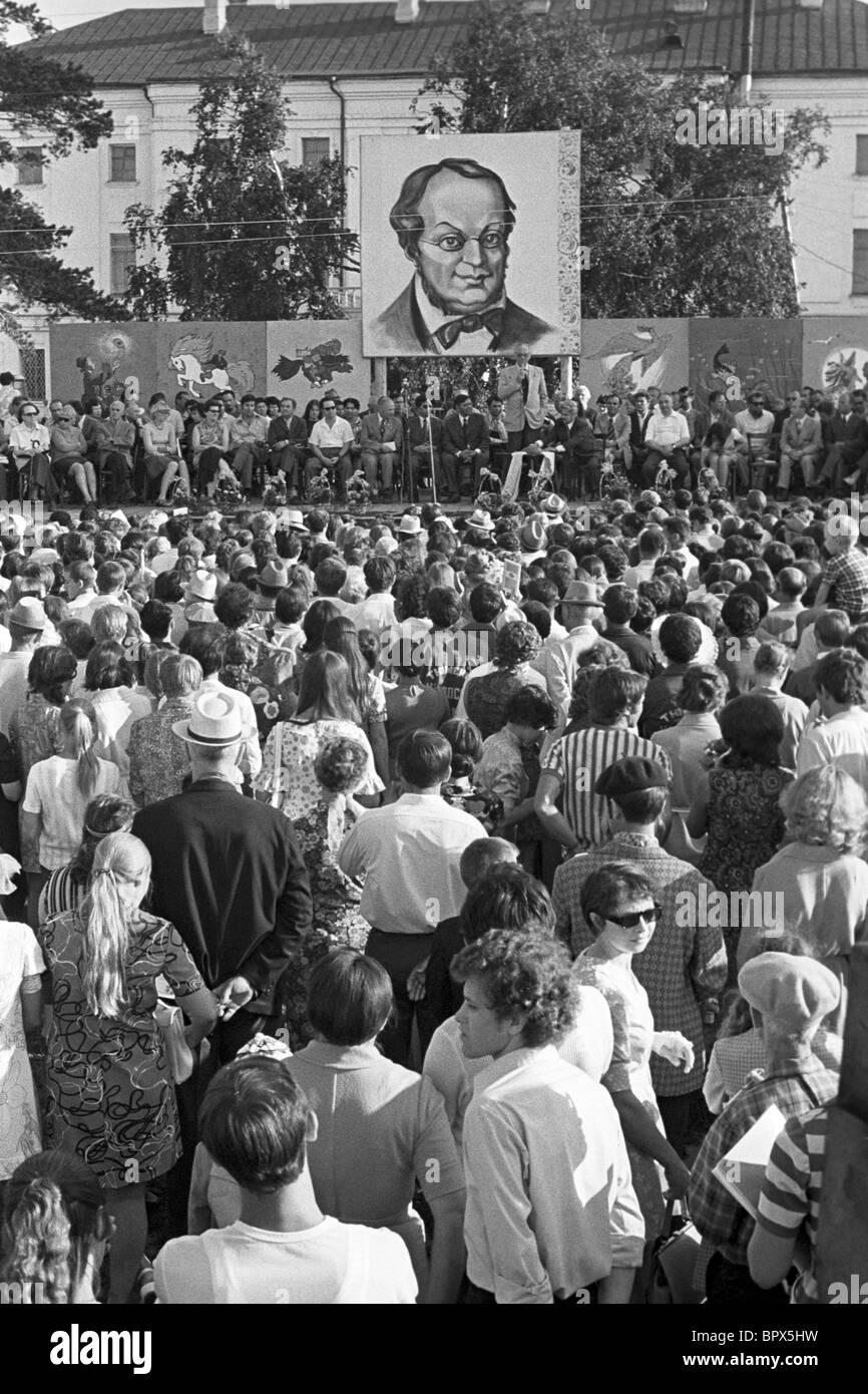 Literary evening in Tobolsk, 1974 - Stock Image