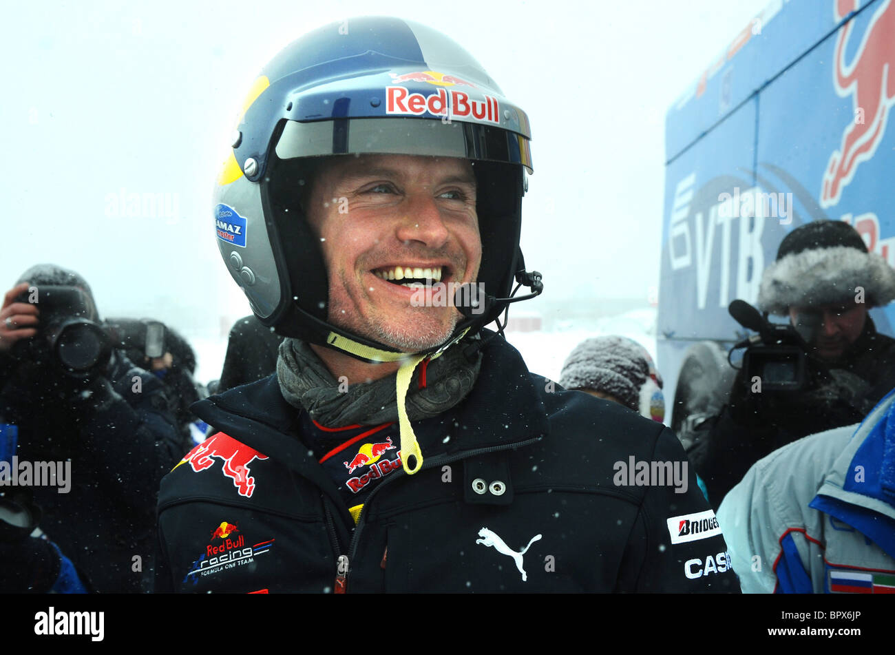 Formula 1 pilot David Coulthard tests KAMAZ truck - Stock Image