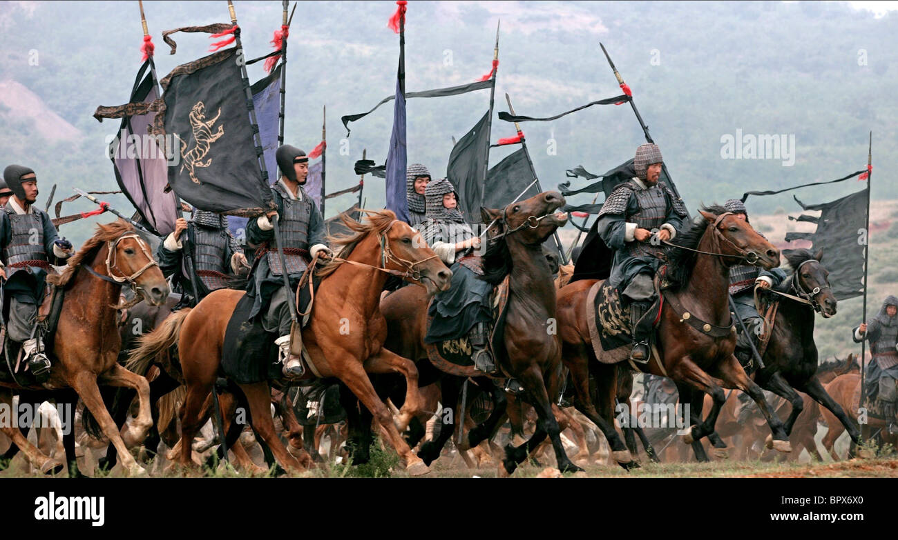 HORSEMEN CHARGE CHI BI; RED CLIFF; THE BATTLE OF RED CLIFF (2008) - Stock Image