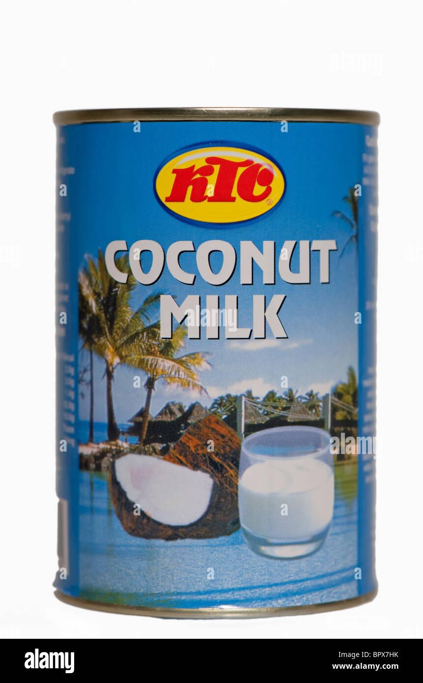 Tin of KTC coconut milk. - Stock Image
