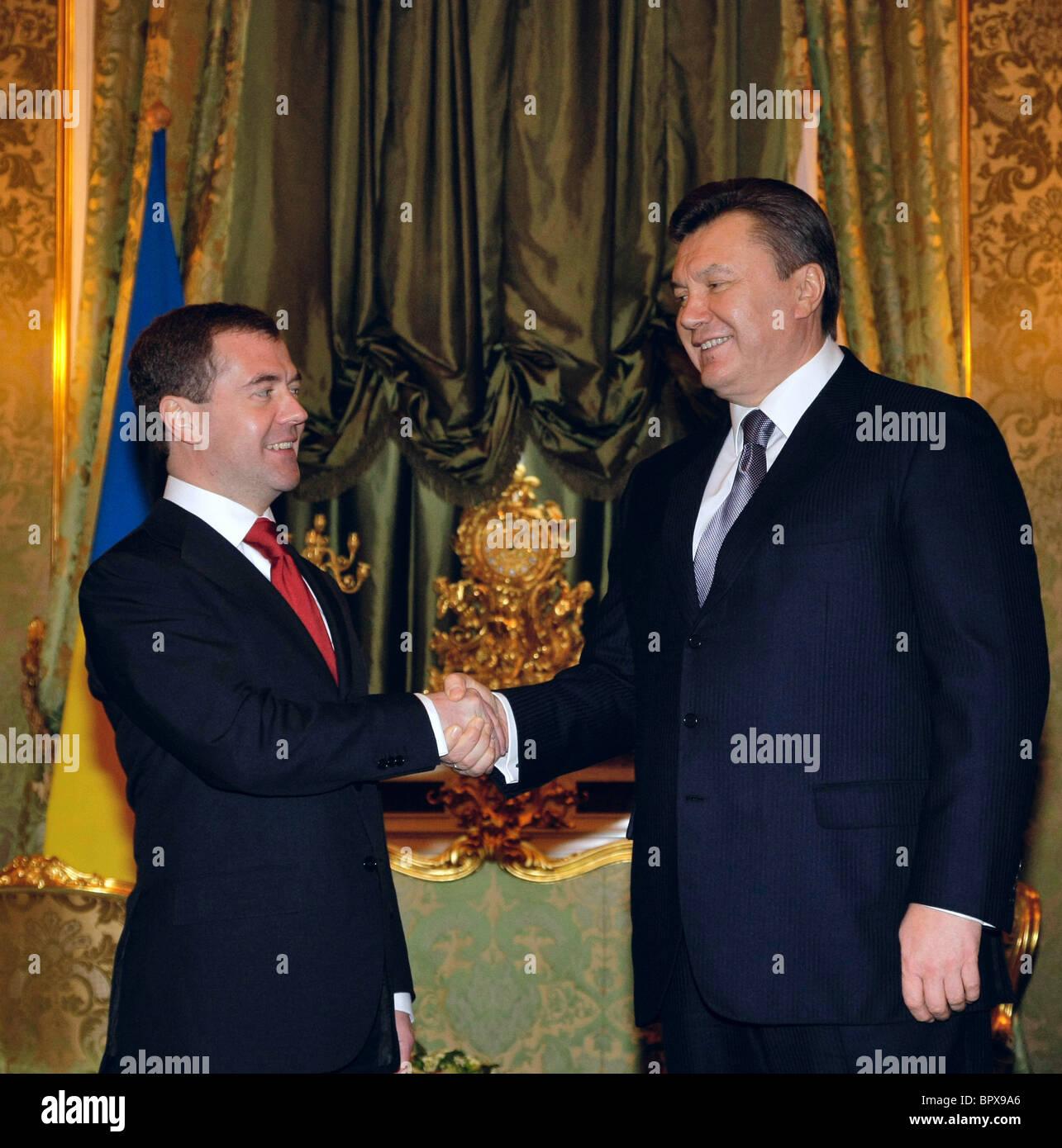 Ukrainian president visits Russia - Stock Image