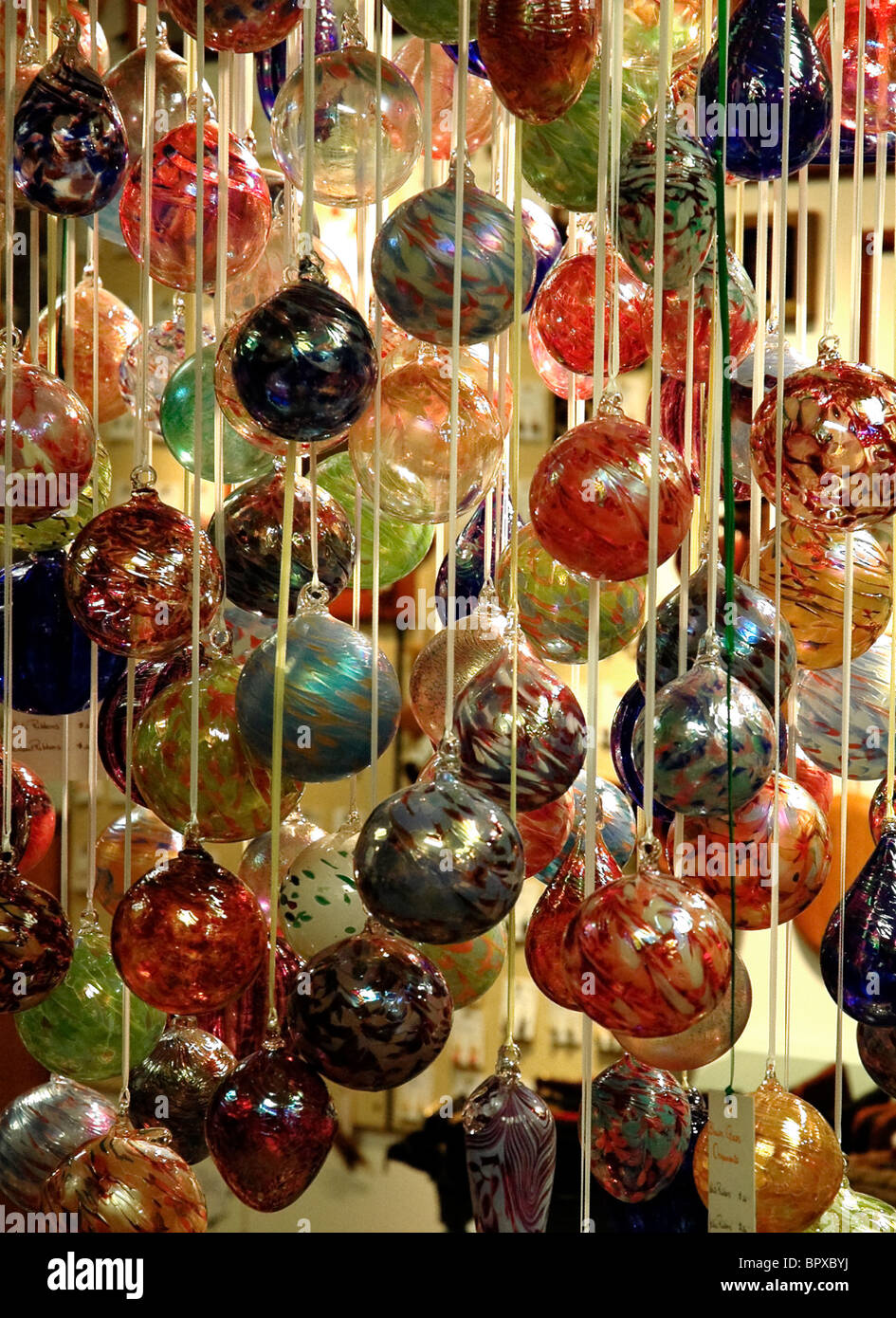 christmas decorations for sale along the great smoky arts crafts community 8 mile loop gatlinburg tennessee