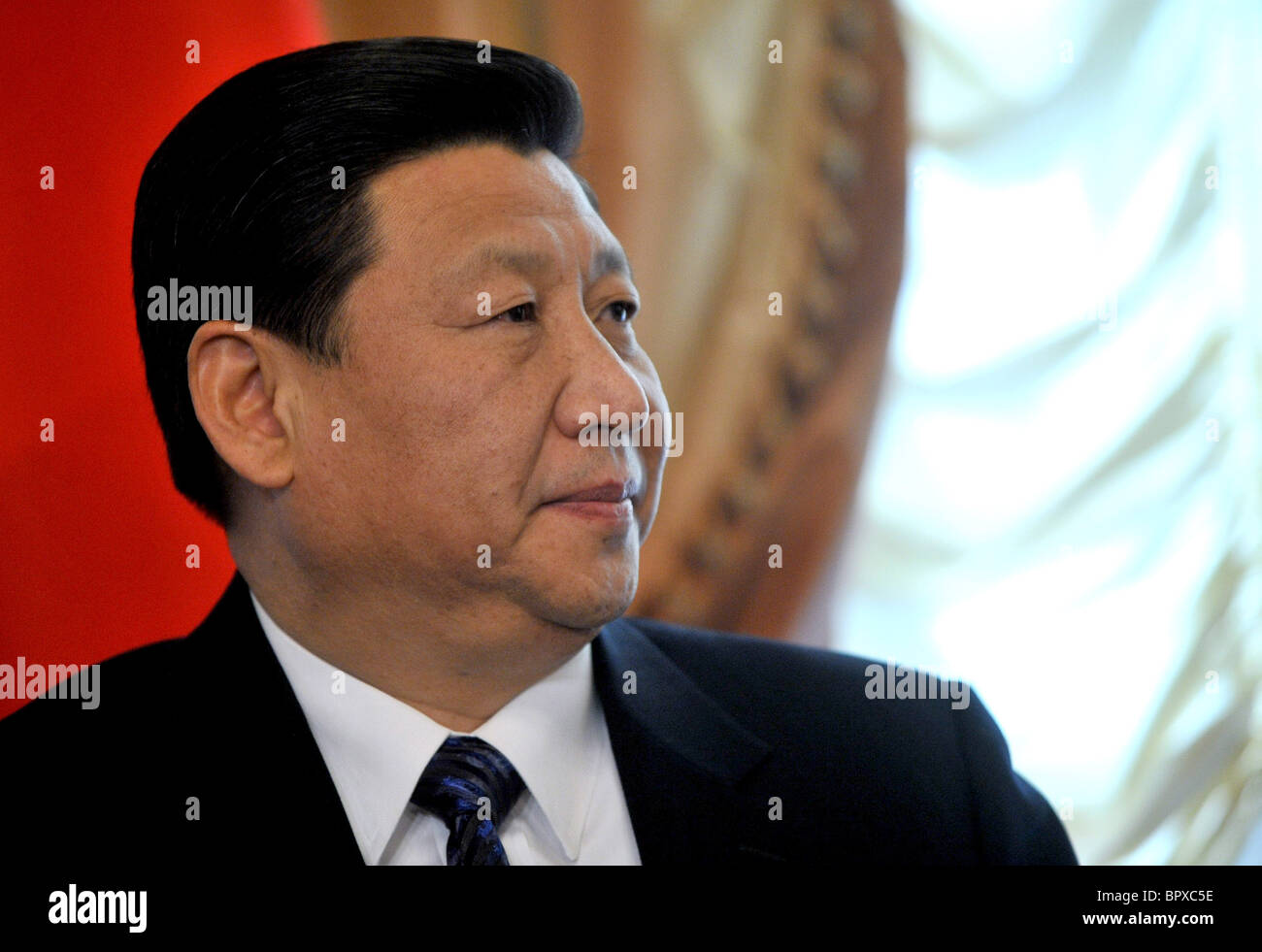 Russian PM Putin and Chinese Vice President Xi Jinping meet for talks - Stock Image