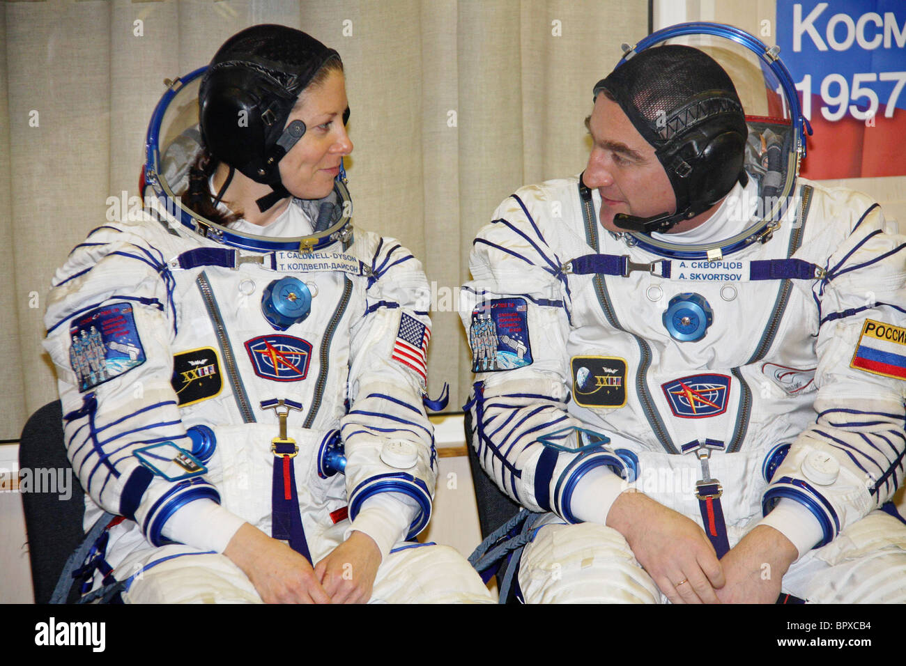 ISS Expedition 23 crew members prepare for flight - Stock Image