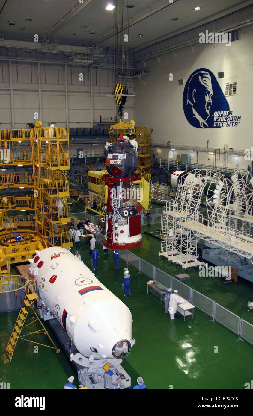 Preparations for ISS Expedition 23 - Stock Image