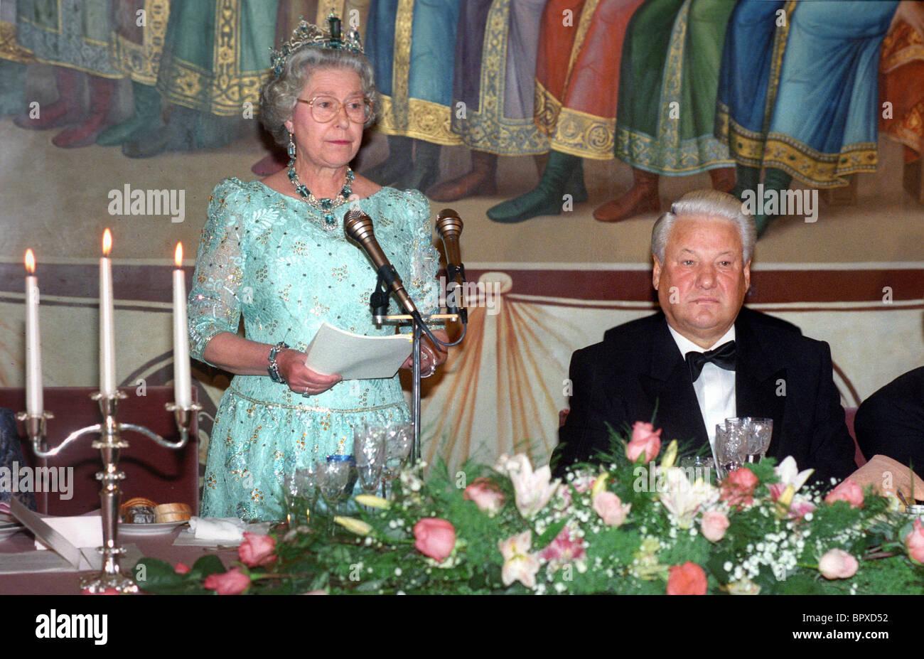 Queen Elizabeth II visit to Moscow, 1994 - Stock Image