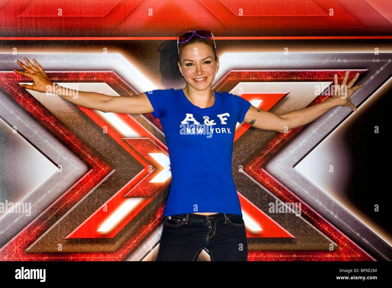 Conferenza stampa per la presentazione di X Factor, Milano, 06.09.2010. Nella foto: Alessandra Barzaghi - Stock Image
