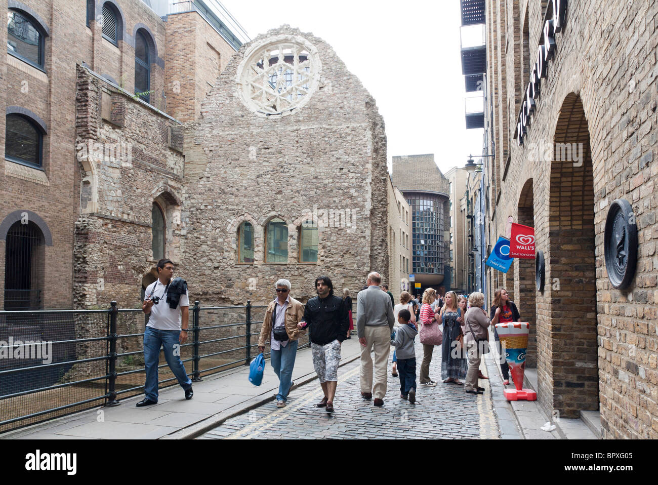 Remains of Winchester Palace - Southwark - London - Stock Image