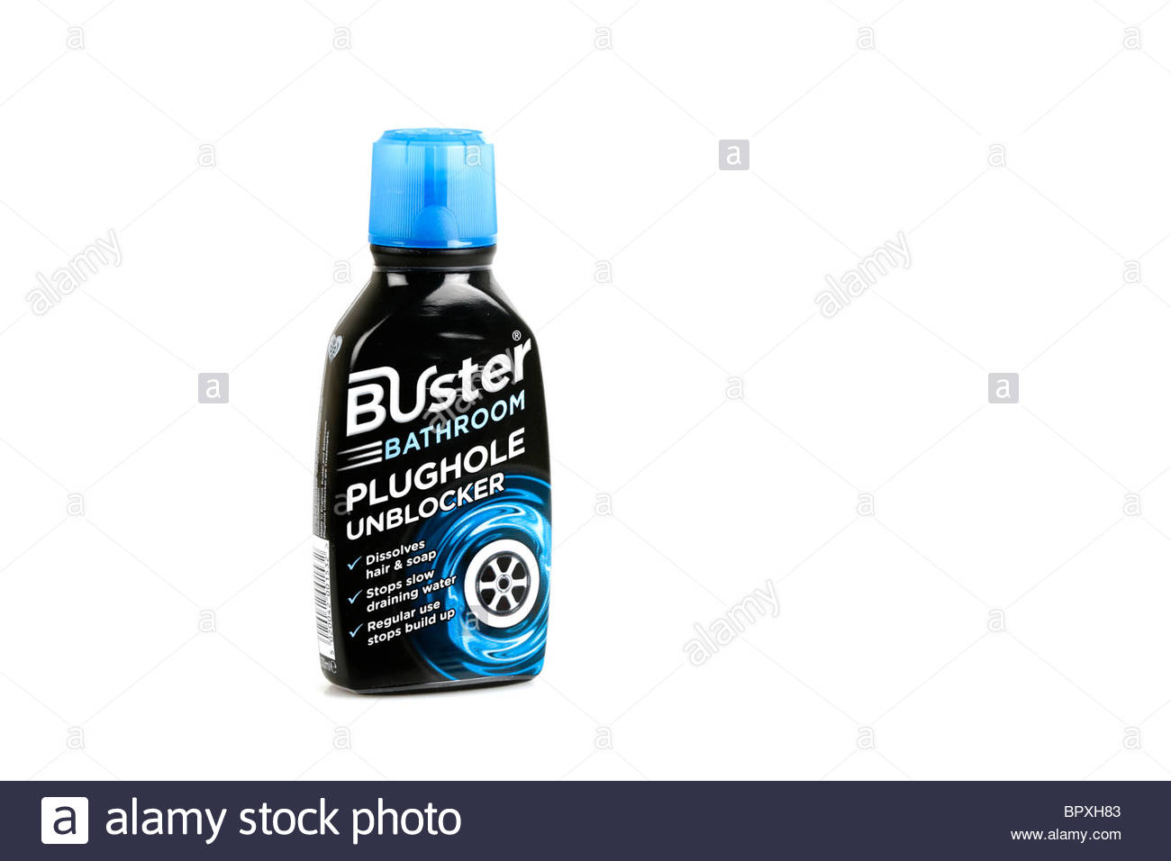 Plughole unblocker cleaning fluid - Stock Image