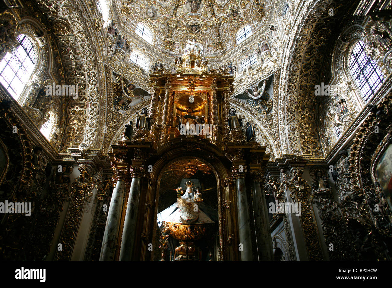 A chapel of a church, August 20, 2007, in Puebla de Zaragoza, Mexico. - Stock Image