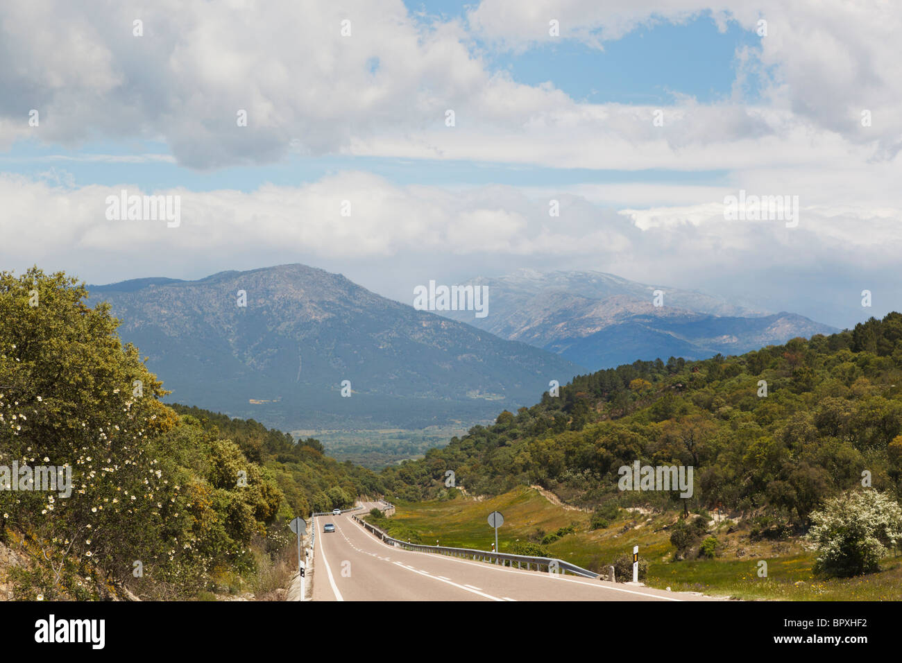 Typical countryside in the Sierra de Gredos, Avila Province, Spain. - Stock Image