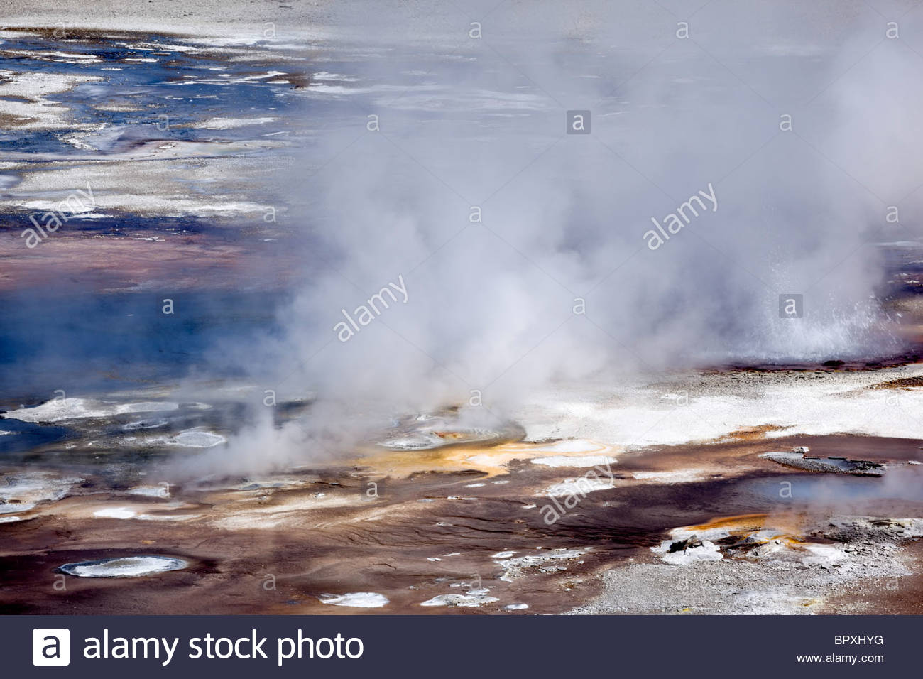 Whirligig Geysers at Norris Geyser Basin, Yellowstone National Park, Wyoming - Stock Image