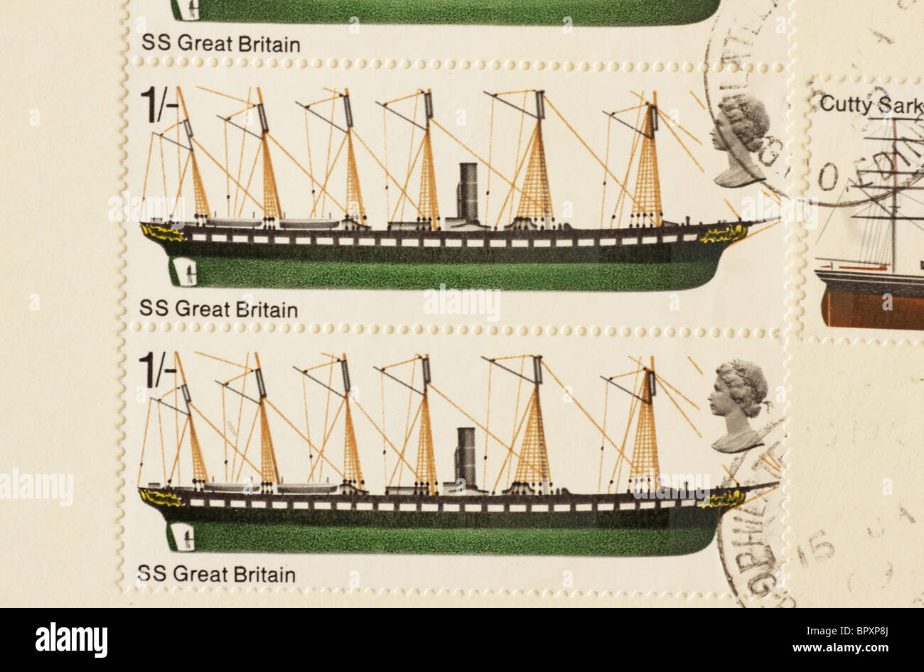 British Ships Commemoration Stamp SS Great Britain 1969 - Stock Image