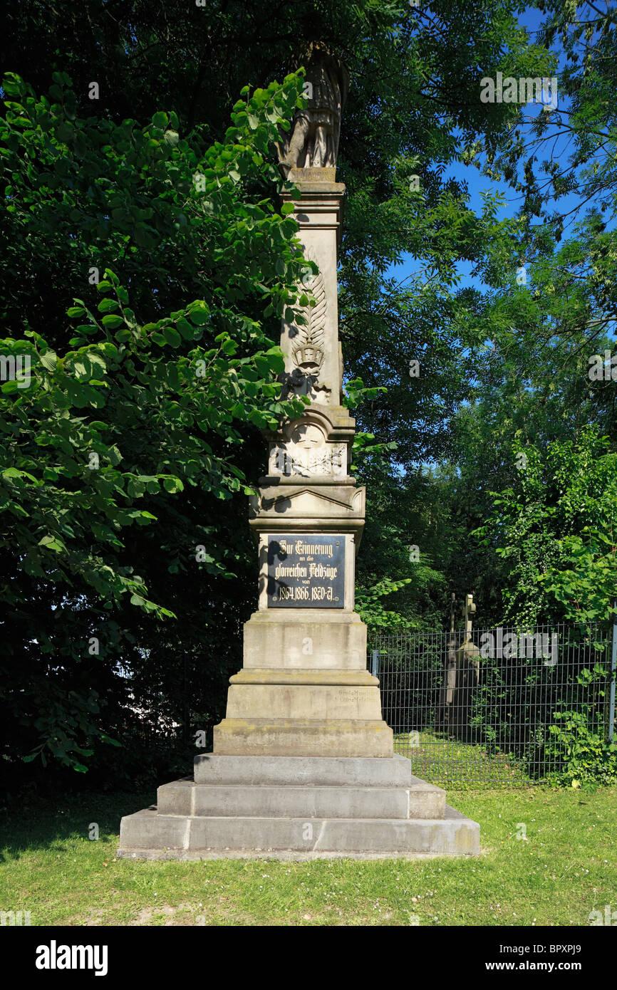 Kriegerdenkmal in Frechen-Bachem, Ville, Naturpark Rheinland, Nordrhein-Westfalen Stock Photo
