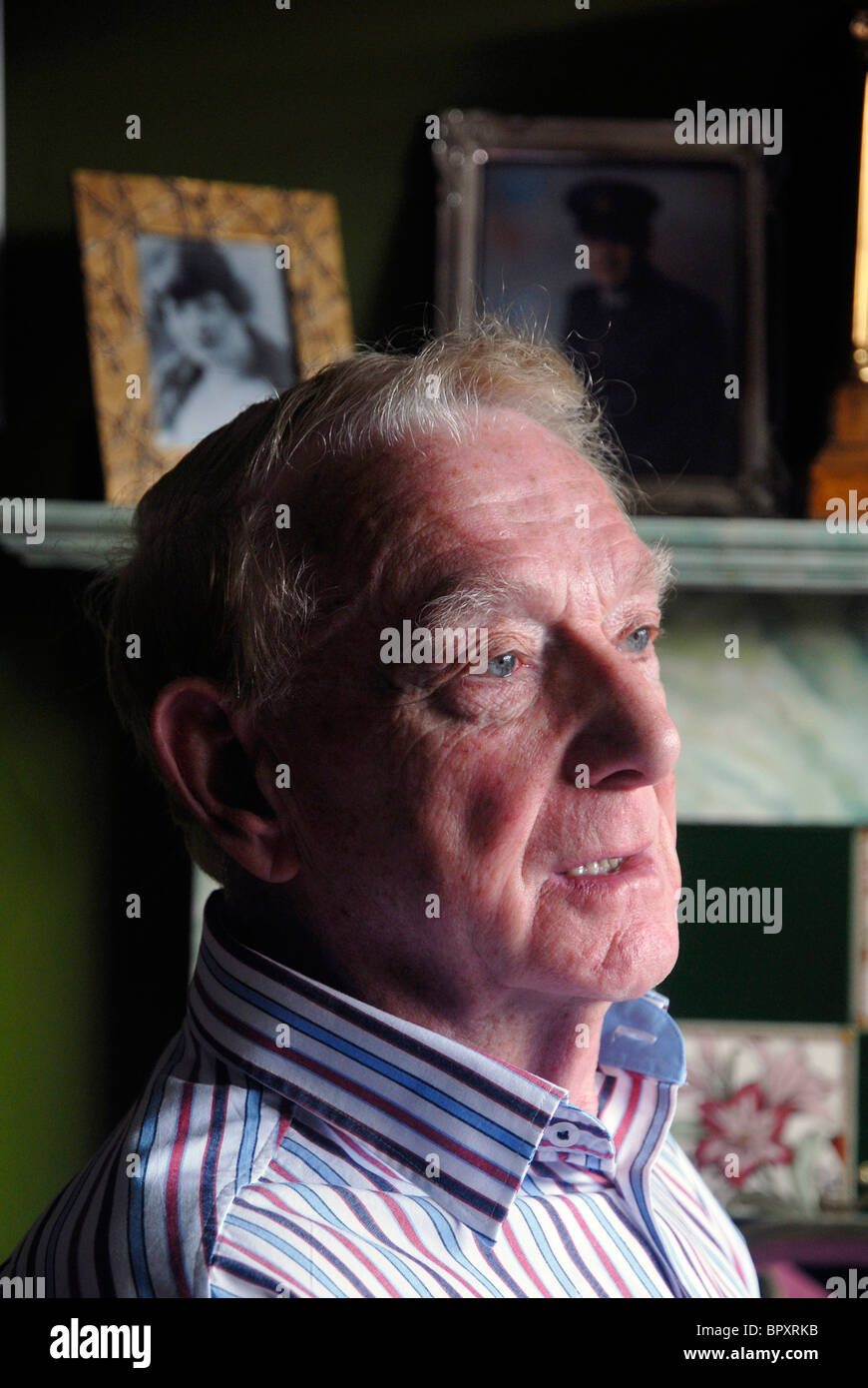 82yrs old blitz survivor TOM BETTS at home in Islip, Northamptonshire, 3rd September 2010. - Stock Image