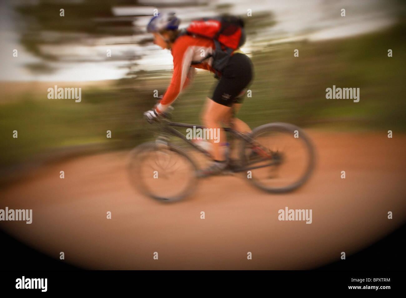 Mountain Biking, Fruita, Colorado. - Stock Image