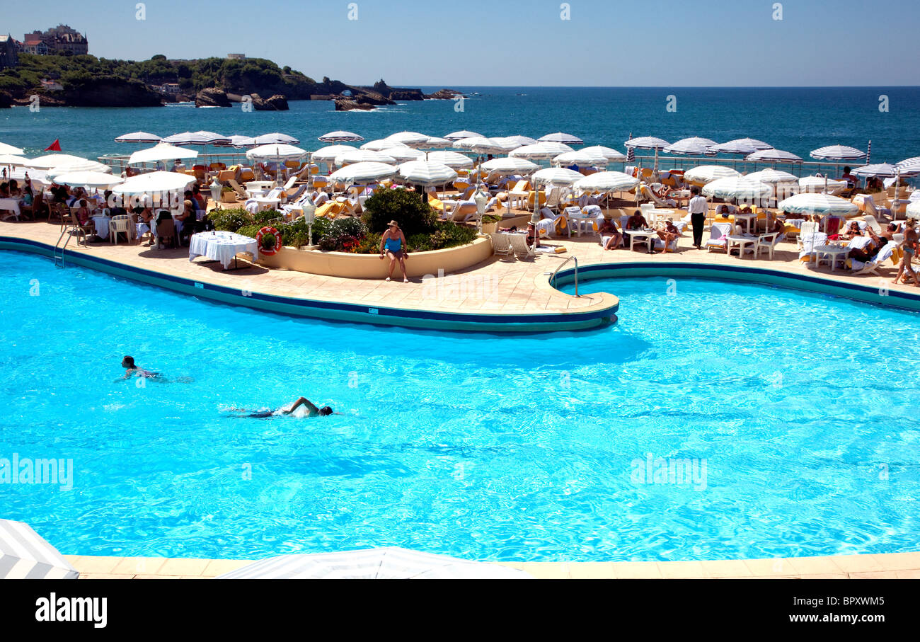 Swimming Pool Of Five Star Hotel Du Palais In Biarritz, France   Former  Palace Of Empress Eugenie
