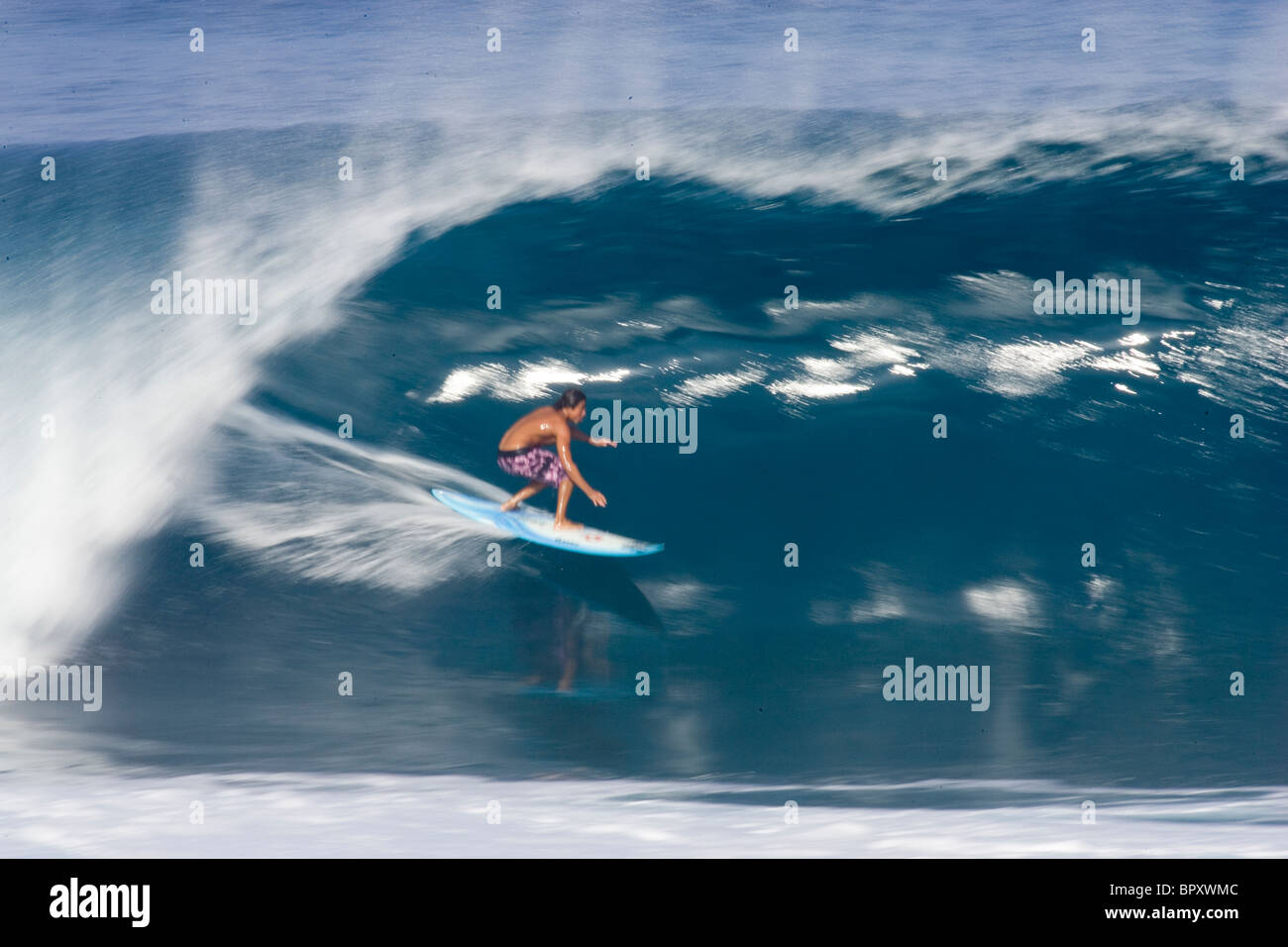 Surfing Pipeline In Hawaii Stock Photo 31323724 Alamy