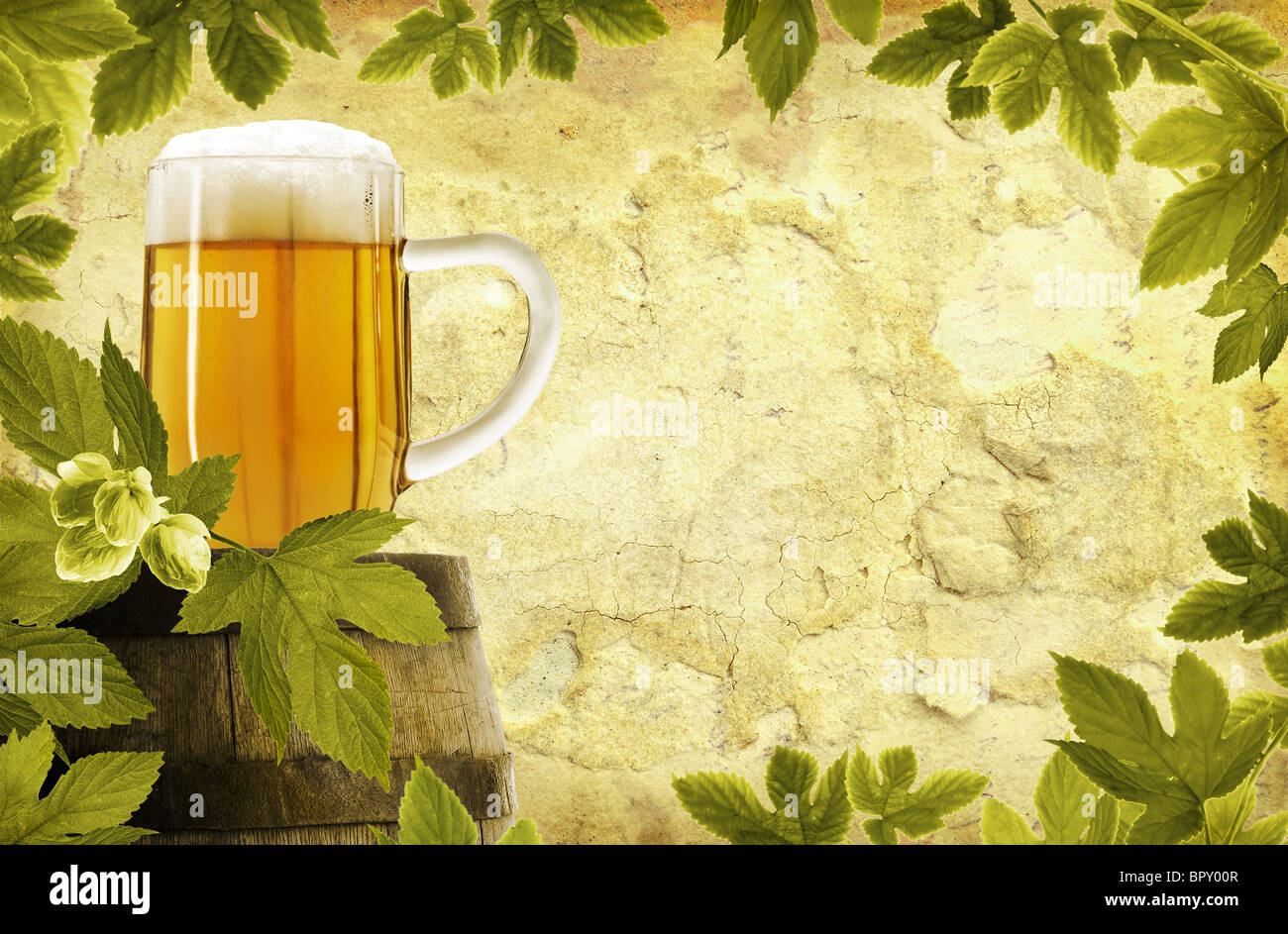 Beer frame in vintage style Stock Photo: 31325527 - Alamy