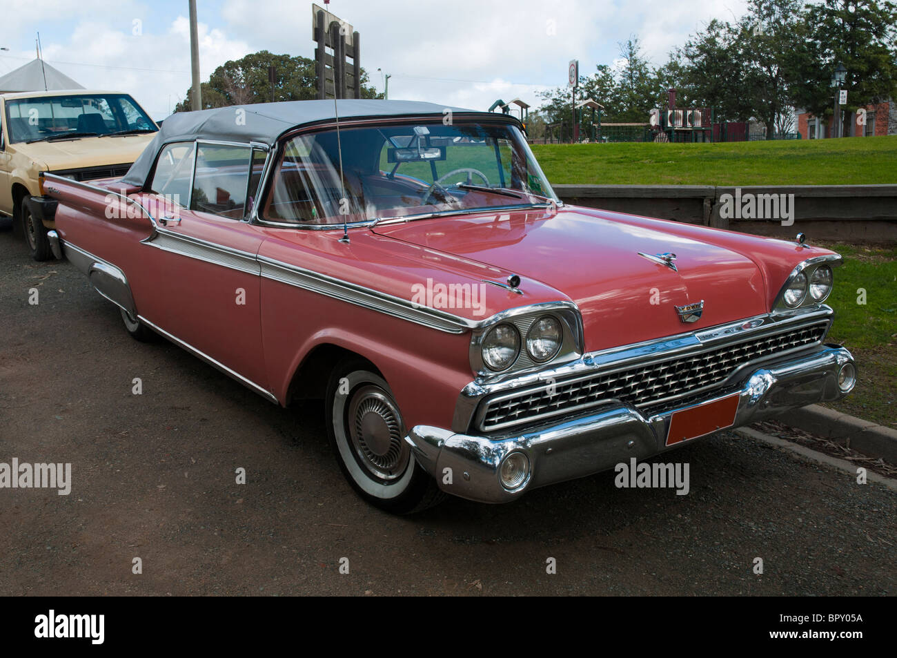 Two door Ford Galaxie convertible - Stock Image