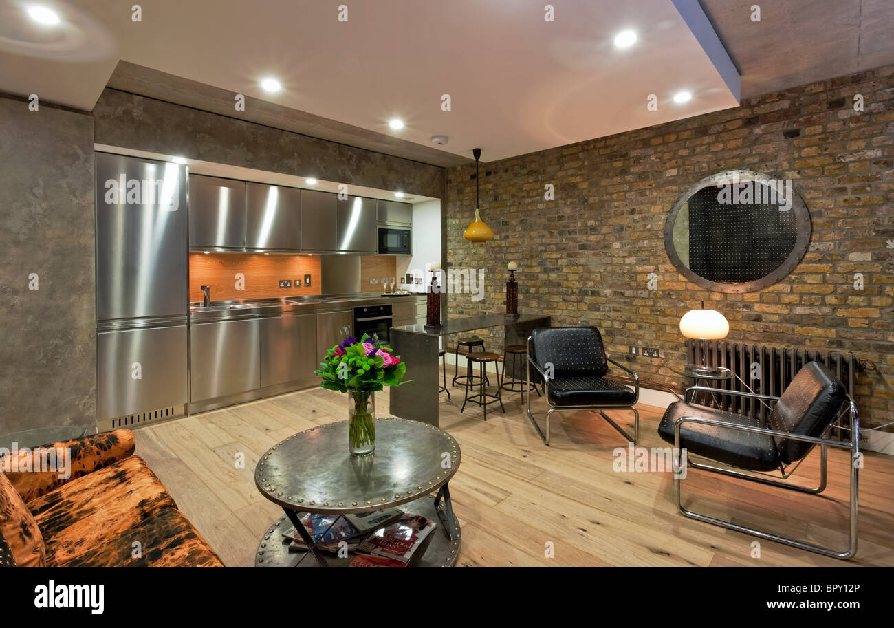 The Henson apartments - a luxury residential development named after Jim Henson on the canal at Camden in London. - Stock Image
