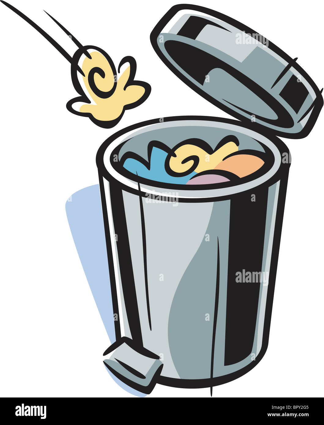 cartoon drawing of a trash can stock photo 31327525 alamy