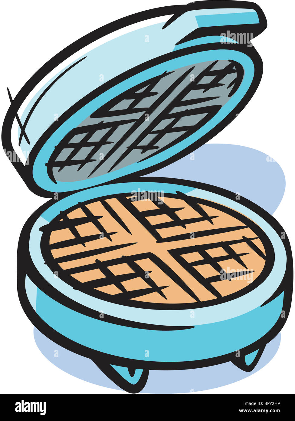 Drawing of a waffle maker Stock Photo: 31327557 - Alamy