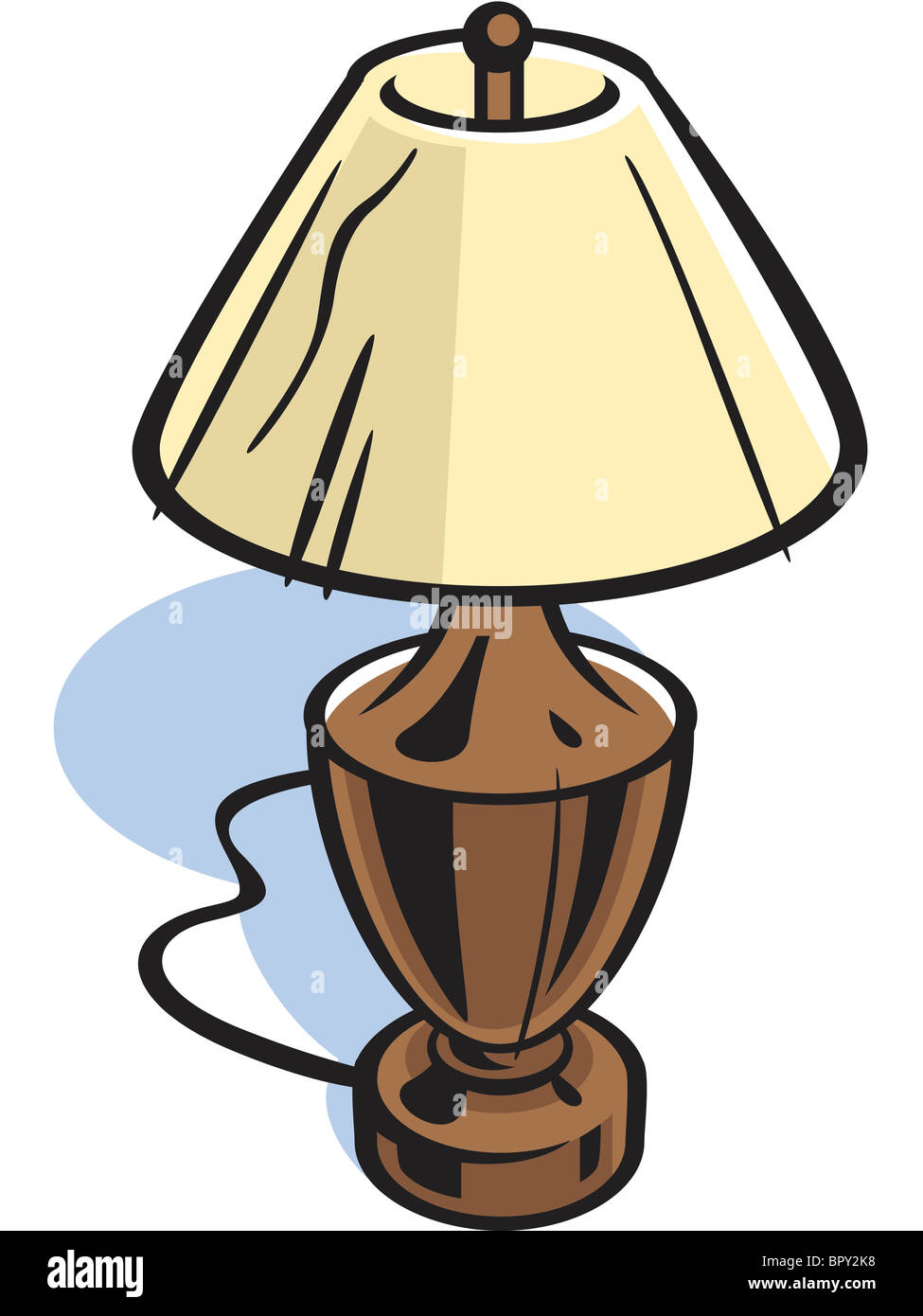 Drawing of a table lamp stock photo 31327612 alamy drawing of a table lamp aloadofball Choice Image